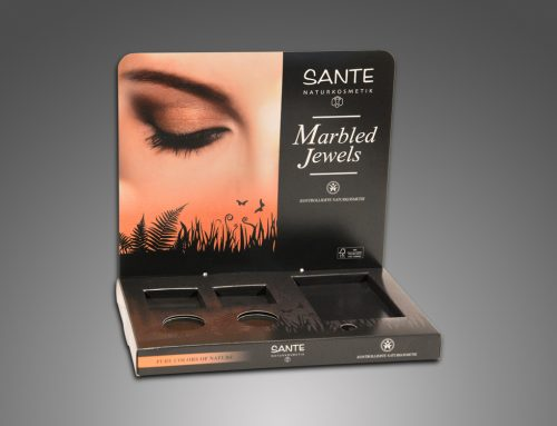 "SANTE ""Marbled Jewels"" – Produktdisplay"
