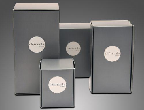 """spirella """"Elements-Reihe"""" – Produktverpackung"""