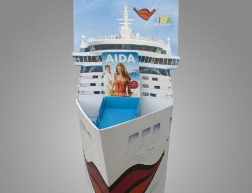 """Aida """"Boot mit eingebautem Artikelpräsenter"""""""